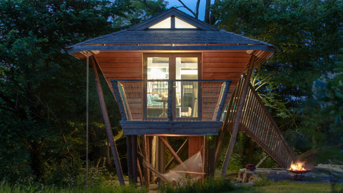 best treehouses in somerset